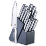 Cook N Home 15-Piece Stainless-Steel Cutlery Set with Storage Block