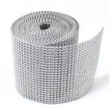 Dress My Cupcake Silver Diamond Rhinestone Ribbon Wrap BULK 30 feet – Wedding Decorations, Party Supplies