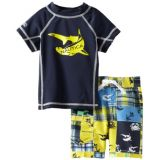 Nautica Baby-Boys Infant 2 Piece Rashguard Set, Sport Navy, 24 Months