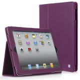 CaseCrown Bold Standby Case (Purple) for iPad 4th Generation with Retina Display, iPad 3 & iPad 2 (Built-in magnet for sleep / wake feature)