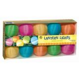 Grasslands Road Round Multi Color Lantern 10 Patio Light Set, 9-Foot