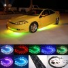 Fuloon (TM) 7 Color LED Under Car Glow Underbody System Neon Lights Kit 48″ x 2 & 36″ x 2 w/Sound Active Function and Wireless Remote Control