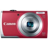 Canon PowerShot A2500 16MP Digital Camera with 2.7-Inch LCD (Red)