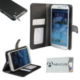 Fall Fashion Accessory for your New Samsung Galaxy Note 2 II/N7100: Elegant black vegan leather wallet-style case (Includes Identity Stronghold credit card protection sleeve)
