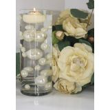 Unique Ivory & White Pearl Beads Including Clear Water Pearls. Great for Wedding Centerpieces and Decorations