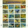 Classic American Aircraft Collectible Stamp Sheet