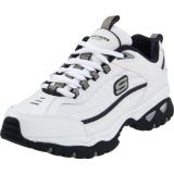 Skechers Men's Energy Afterburn Running Shoe,White/Navy,9.5 M