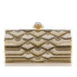 NEW Judith Leiber Austrian Crystal Swanee Pattern Minaudiere-Collectible RARE Retail $3995