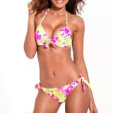 P&o 2013 New Floral Pattern Soft Pad Bikini Set Swimwear Push-up Swimming Suit for Women High Quality