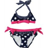 "Pink Platinum ""Dots 2 Ways"" 2-Piece Bikini (Sizes 4 – 6X) – navy, 4"