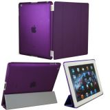 KHOMO ® DUAL CASE Purple Cover FRONT + Purple Crystal Rubberized Back Protector for Apple iPad 2 , iPad 3 & iPad 4 (The new iPad HD)
