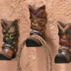 3 Cowboy Western Boots Hook Rack Home Wall Decor